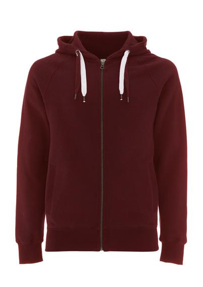 Zip Hoodie Unisex burgund | XS