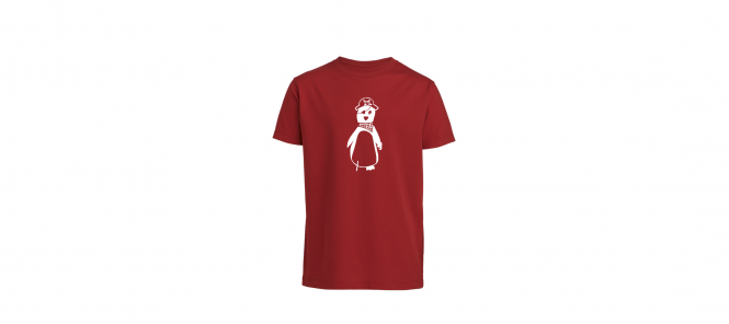 Piratenpinguin Kinder-Shirt (gerade)