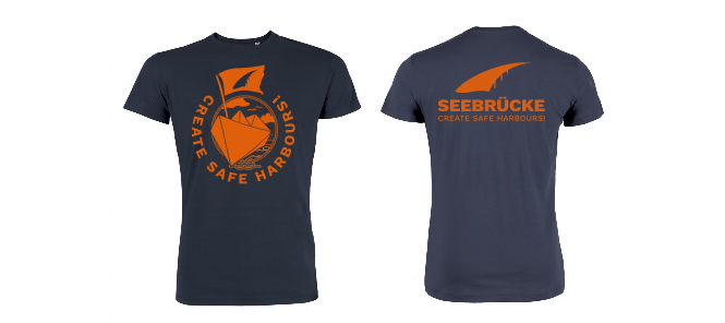 Seebrücke (navy/orange) - Shirt (Jungs*) XL