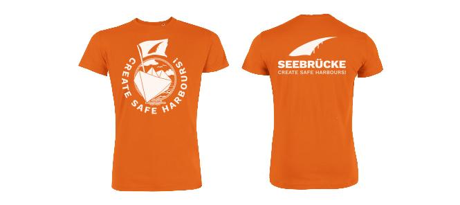 Seebrücke (orange) - Shirt (Jungs*) XXL
