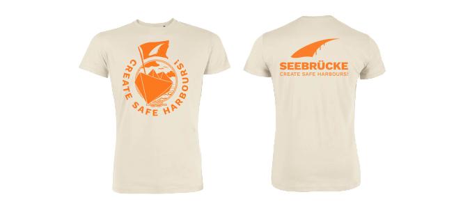 Seebrücke (weiß/orange) - Shirt (Jungs*)